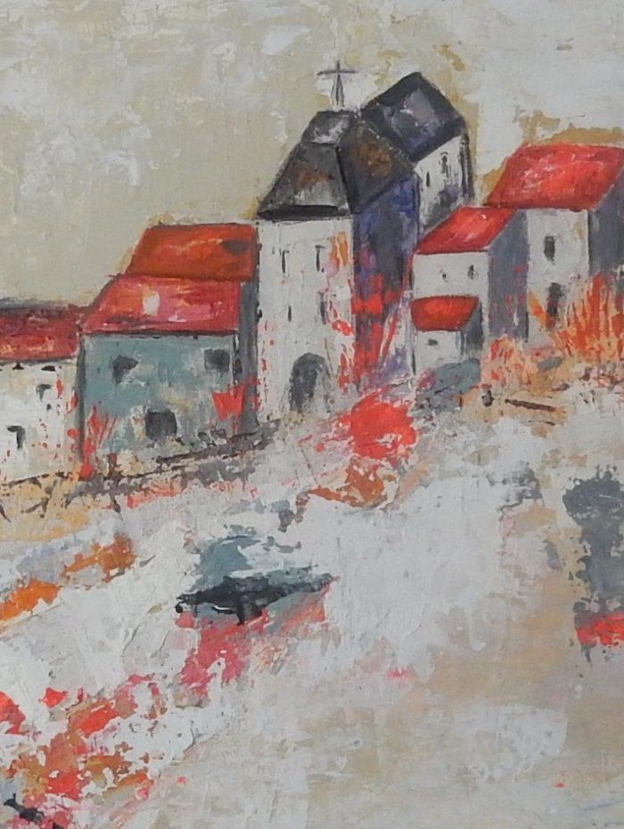 Un village sur la colline