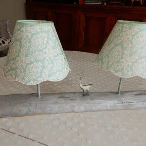 lampe double avec un cerf