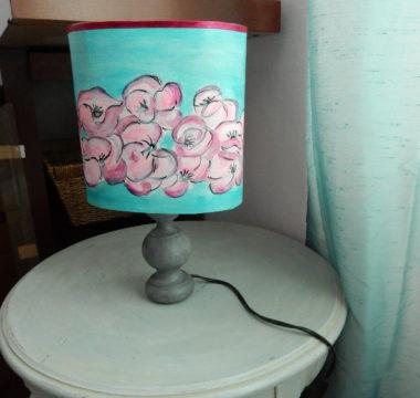 lampe bleue rose