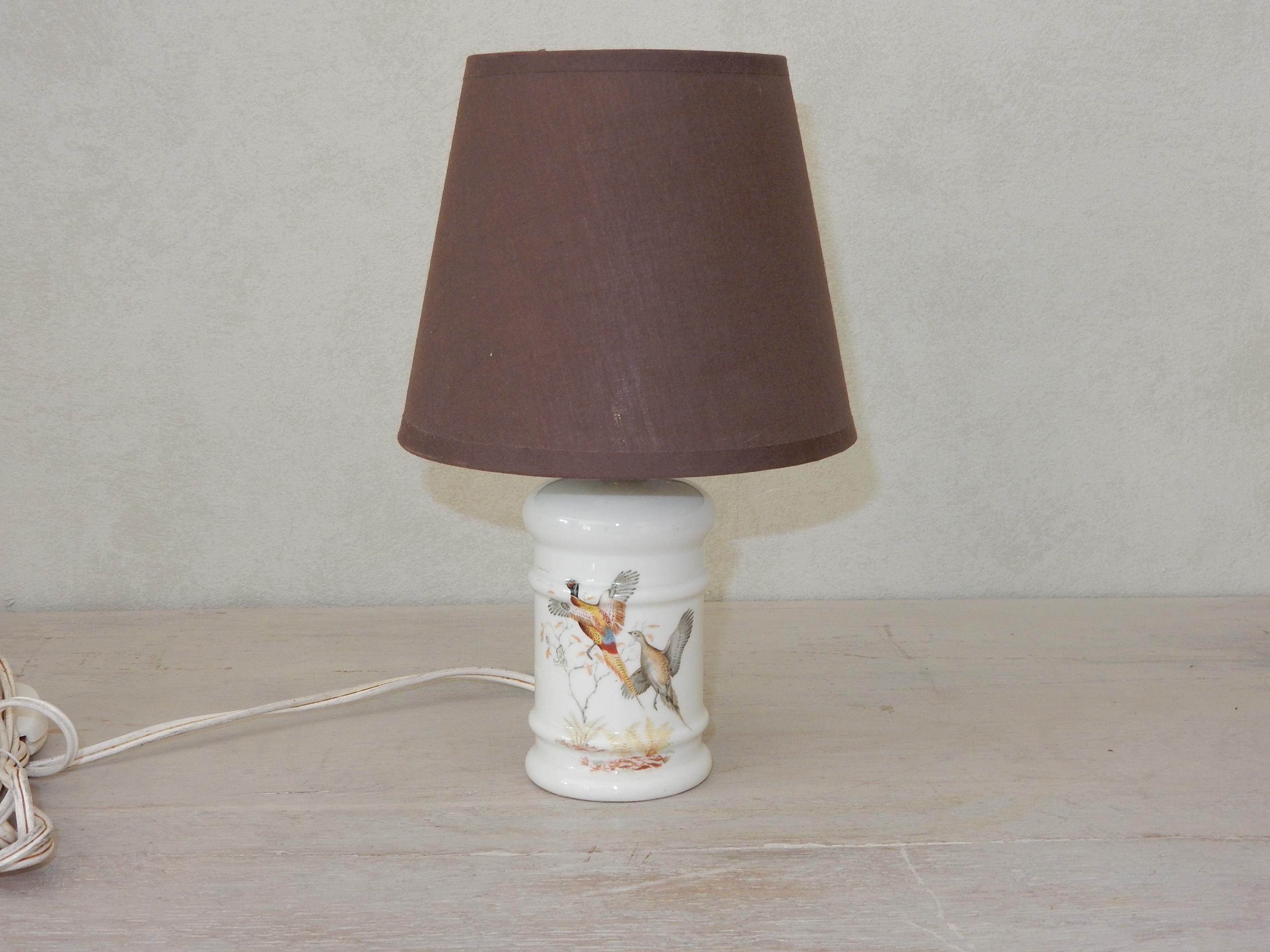 Lampe avec des faisans