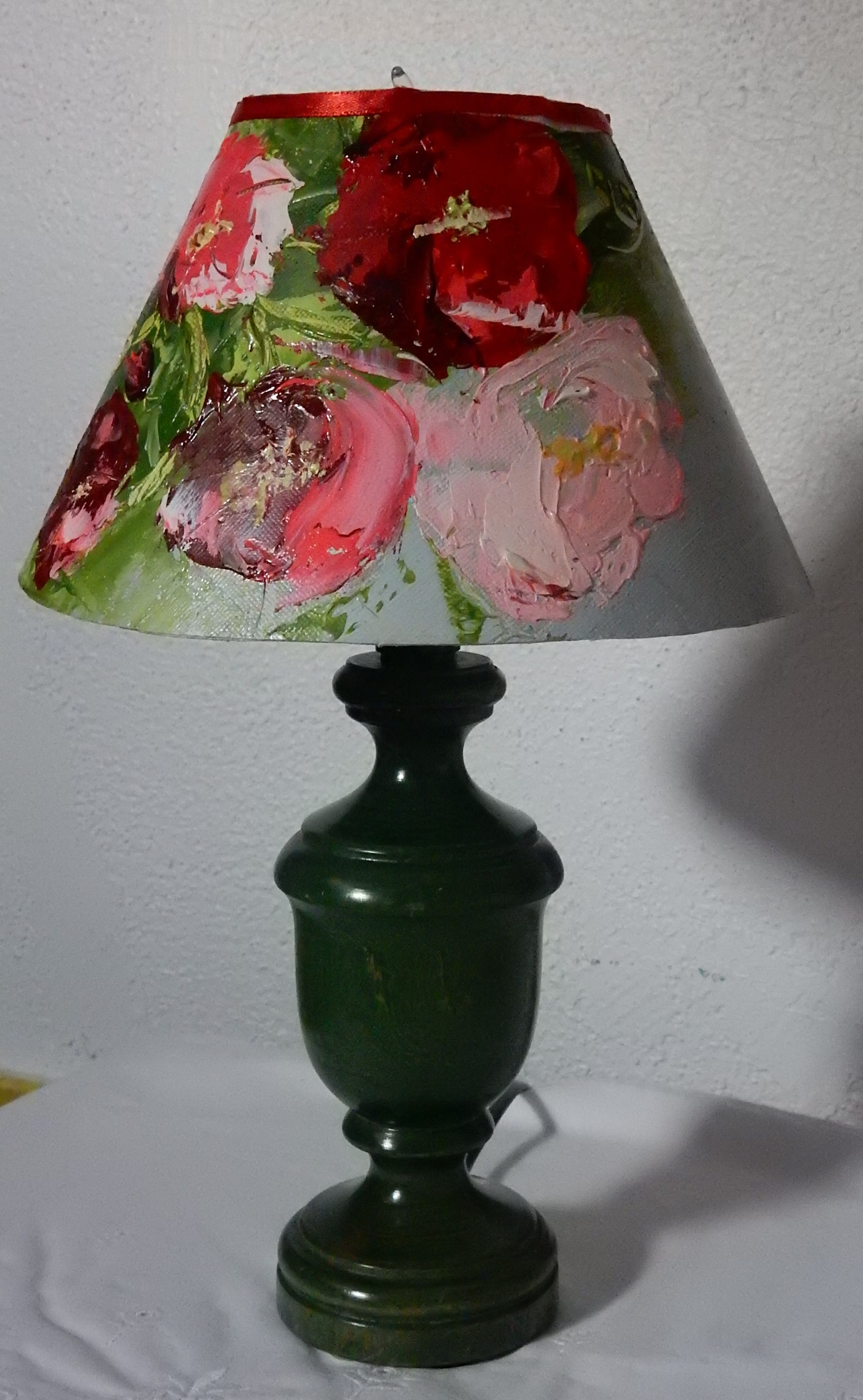 Lampe avec un imprimé